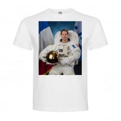 T-Shirt Thomas Pesquet - col rond homme blanc