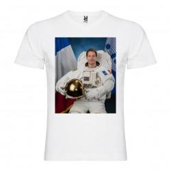 T-Shirt Thomas Pesquet - col v homme blanc