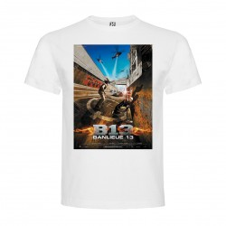 T-Shirt Banlieue 13 - col rond homme blanc