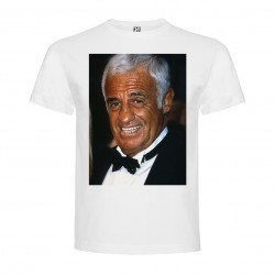 T-Shirt Belmondo - col rond homme blanc