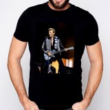 T-Shirt Johnny Hallyday Guitare - homme noir