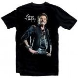 T-Shirt Johnny Hallyday Star - homme noir