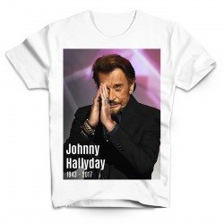 T-Shirt Johnny Hallyday forever - homme blanc