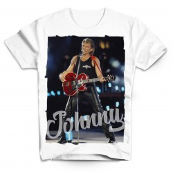 T-Shirt Johnny Hallyday Love - homme blanc