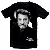 T-Shirt Johnny Hallyday pour toujours - homme noir
