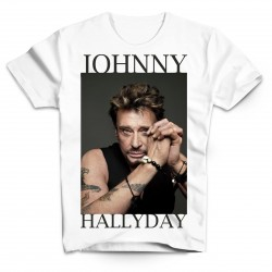 T-Shirt Johnny Hallyday The best - homme blanc