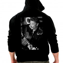 Sweat Capuche Johnny Hallyday Portrait