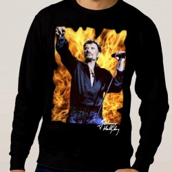Sweat Johnny Hallyday feu