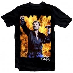 T-Shirt Johnny Hallyday feu