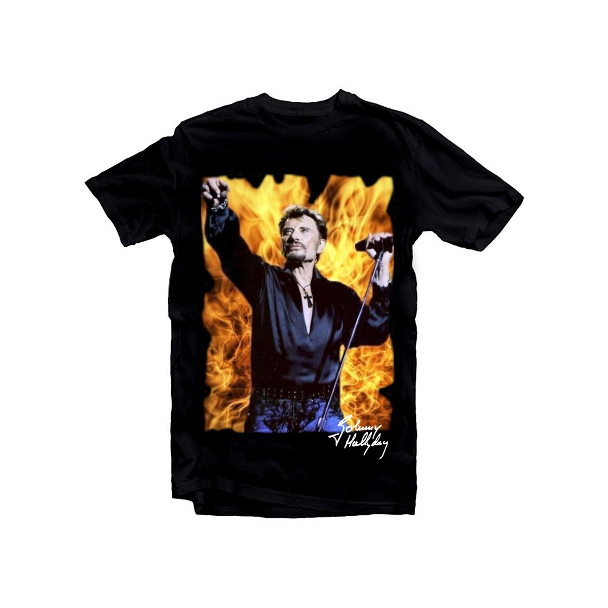 T-Shirt Johnny Hallyday feu